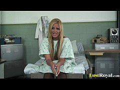Handsome doctor giving pretty Phoenix Marie a f...