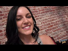 Sweet Brunette Receives Facial After Amazing Handjob