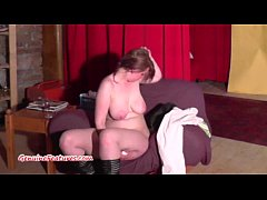 Chubby girl shows her body during the casting i...