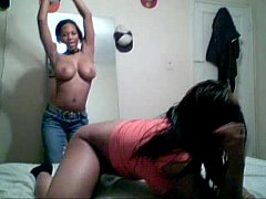 2 blackgirls having fun together