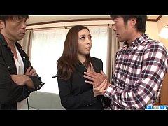 Rough office hardcore trio with hot Maki Mizusawa