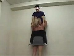 perfect tall women lift by waist against the wall
