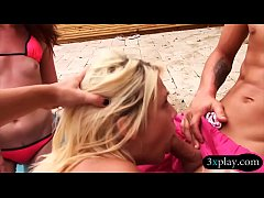 Group of sexy teen besties nasty orgy near the ...