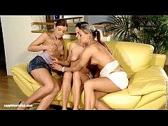Wild lesbian threesome sex in Sensual Inserters by Sapphic Erotica