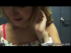 Pretty blonde babe Dixie gets banged in the cr ...