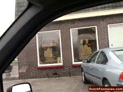 Old Dutch MILF Fucked In Car