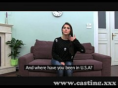Casting Hot Italian Babe in interview