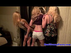 Partying loving teens handling dongs