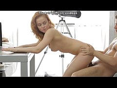 Red hot girl Janna possesses passionate mouth a...