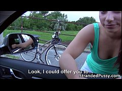 Horny Jenny gets fucked on the roadside by big ...