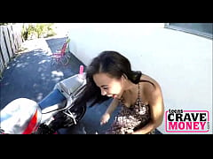 Teen Rides Dildo On Motorcycle For Money - Teen...
