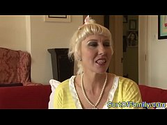 Highheeled granny assfucked by stepteen