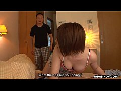 Asian housewife getting toyed and facial spunked