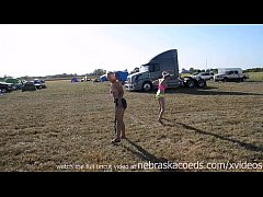 amateur tits out at conesville biker rally iowa