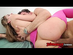 Tight teen Kimmy Granger swallows cum