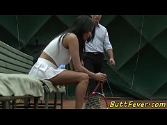 Bigtits eurobabe assbanged after tennis