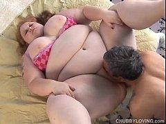 Beautiful big tits redhead BBW loves to fuck