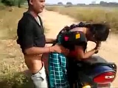 desi couple having quickie by the road while fr...