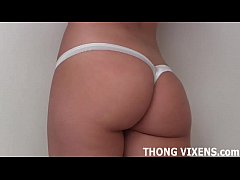My rainbow colored thong will make you nice and...