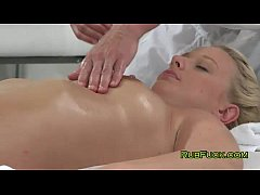 Bare blonde massaged and fucked