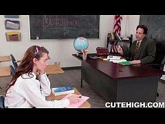 Bad Student Blows Teacher