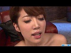 Makoto Yuukia ends with jizz on her nice lips a...
