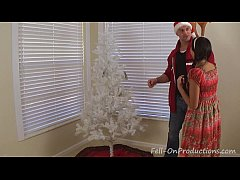 Mom and stepdaughter decorate more than the xmas tree 10