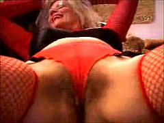 Red Fishnet Heels & Toys Porn Star Movies Zoe