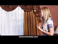 FamilyStrokes - Sexy Teen Gets a Little Help From Her Step Mom