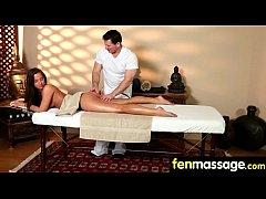 Cute teen babe fantasy fucking on massage table 30