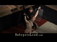 Box-bandaged and punished in the attic for fuck