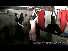 french bdsm whipping and wax for submissive sandy