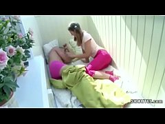 Step-Sister Wake Him Up to Get First Anal Fuck ...