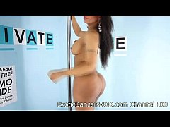 Sexy Exotic Dancer Blaze Strips Nude