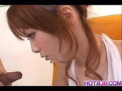 Impressive blowjob by steamy Japan av model