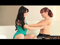 Hot Dominating Lesbians at Calendar Audition