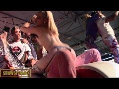 Spanish hot and amazing pornstars orgy on stage