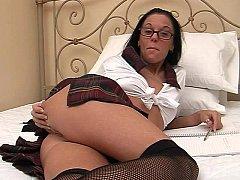 Slut in glasses sucked and fucked