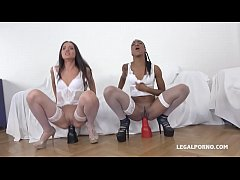 Nikki Darling & Nataly Gold - Two wild bitches have real passion for BBC