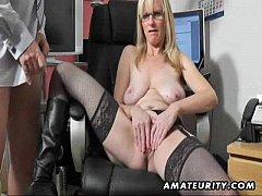 Busty amateur Milf sucks and fucks with cum on ...