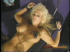 Luscious blonde tart with massive melons gets w...