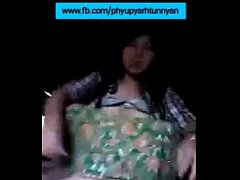 Myanmar 45yr old aunty show her pussy