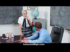 InnocentHigh - Hot Shy Teen Fucks Teacher