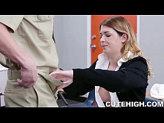 Sexy Schoolgirl Fucked After School