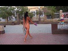 Nude stoll in public