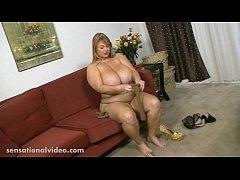 Busty BBW MILF Samantha 38G Sucks Candy Cock