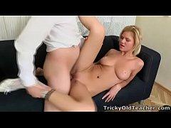 Tricky Old Teacher - Lovely blonde babe Shelly