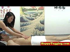Spycam asian massage jerking