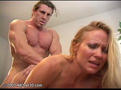 Joelean receives a huge load from muscular man