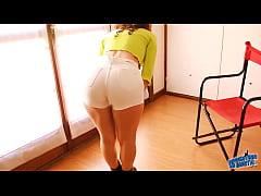 Perfect Ass & Cameltoe Teen Wearing G-String an...
